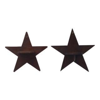 Pair of Star Shelves