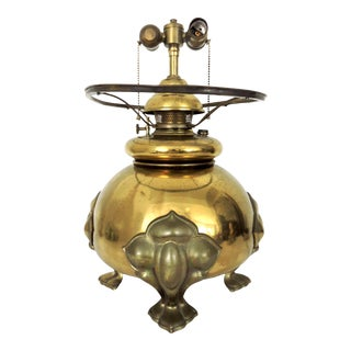 Mid 20th Century Vintage Asian Brass 'Oriental Censor' Style Table Lamp For Sale