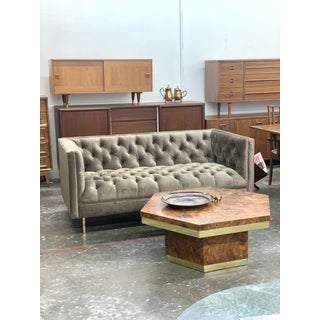 1980s Vintage Art Deco Style Tufted Sofa Preview