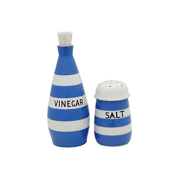 T. Green English Cornishware Salt & Vinegar Set For Sale - Image 4 of 4