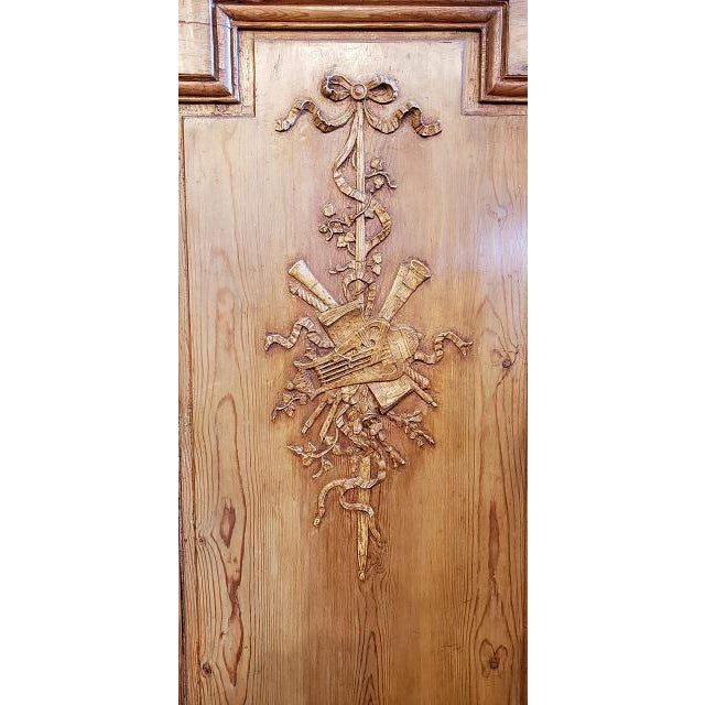 Brown Mid 19th Century French Pine Carved Door Panels C.1870 For Sale - Image 8 of 11