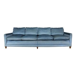 Powder Blue Lawson Style Four Cushion Sofa Vintage Mid Century Modern For Sale