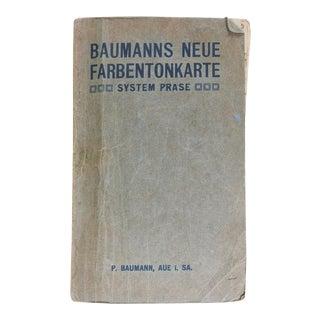 1912 Prase - Baumann Color System Charts For Sale