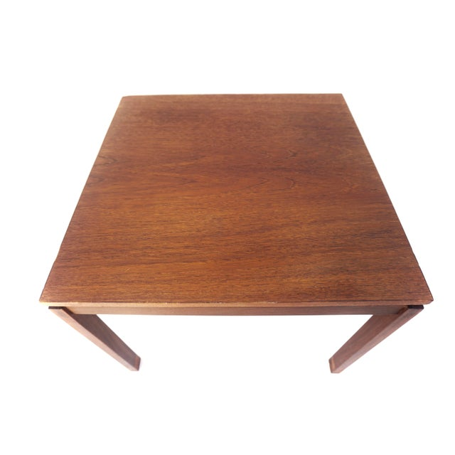 Metal Mid-Century Hans Olsen Teak End Table || Made in Denmark || One of Two For Sale - Image 7 of 13
