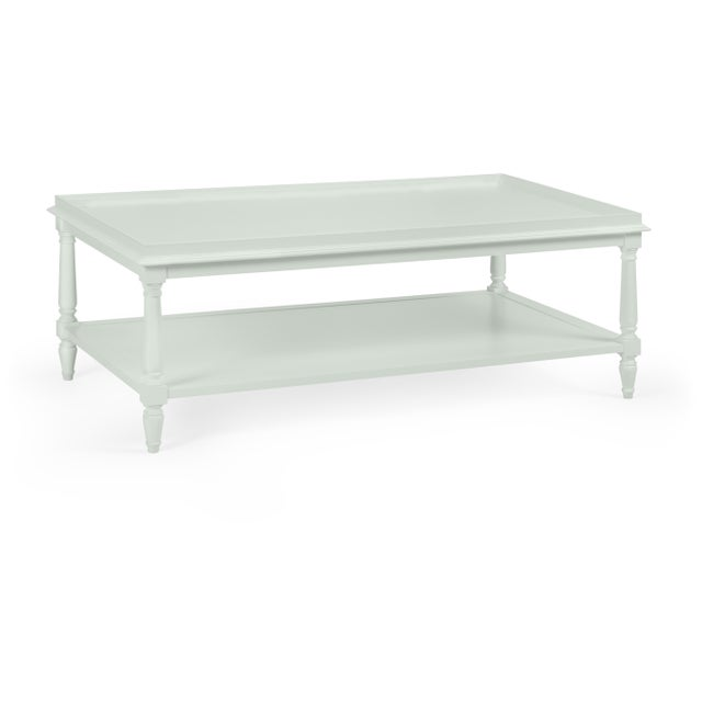 Transitional Casa Cosima Revere Cocktail Table, Gray Cashmere For Sale - Image 3 of 3