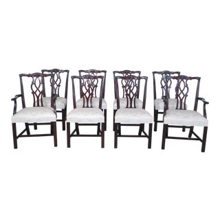 Kindel Chippendale Mahogany Dining Chairs - Set of 8