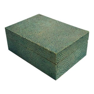 1920s Green Shagreen Music Box For Sale