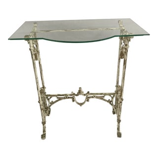 Painted Wrought Iron Side Table For Sale
