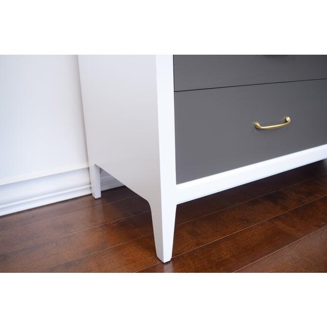 Mid-Century Modern White & Gray Dresser - Image 5 of 10