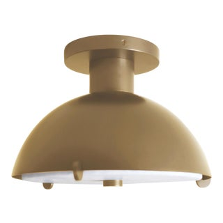 Modern Contemporary 001 Semi-Flush in Brass by Orphan Work For Sale