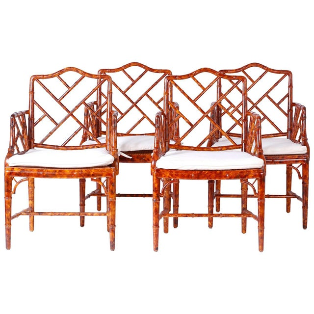 Chinese Chippendale Armchairs - Set of 4 For Sale - Image 11 of 11