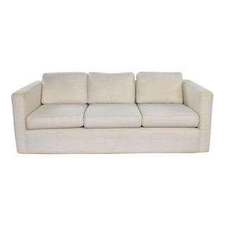 White Modern Tuxedo Style Sofa by Milo Baughman for Thayer Coggin For Sale