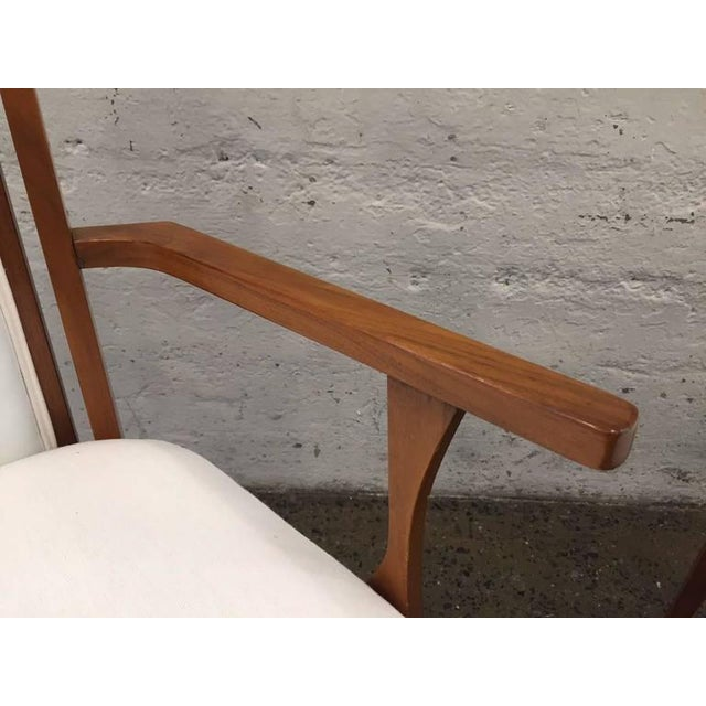 1950s Set of Six Walnut Italian Dining Chairs For Sale - Image 5 of 8
