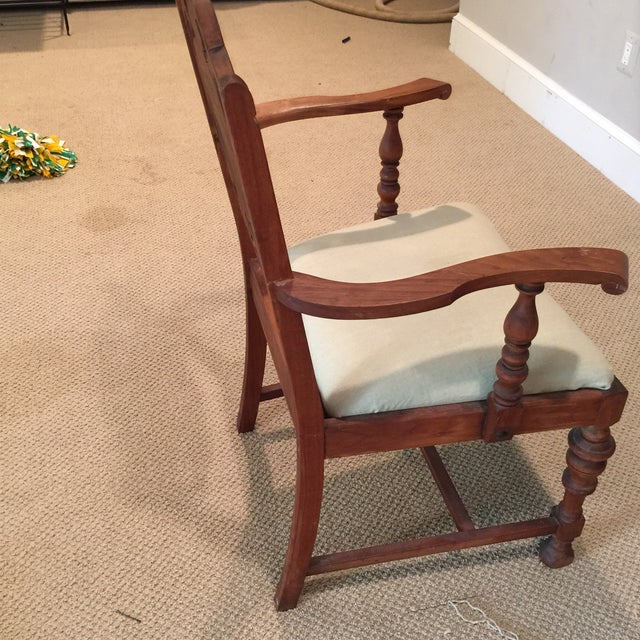 Carved Mahogany Armchair - Image 9 of 11