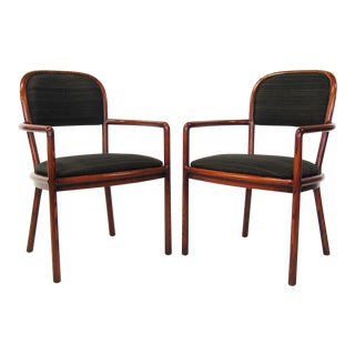 Pair of Ward Bennett armchairs with horsehair upholstery For Sale