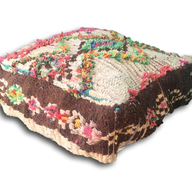 Vintage Moroccan Floor Cushion Cover - Image 5 of 5