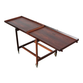 Poul Hundevad Rosewood Modular Bar Cart For Sale