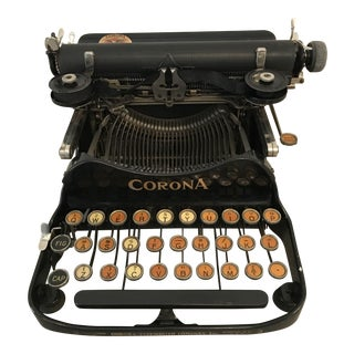 1920s Corona Number 3 Typewriter With Case For Sale