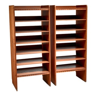 Martin Nyrop Pair of Pine Bookcases, Denmark, Ca 1900 For Sale