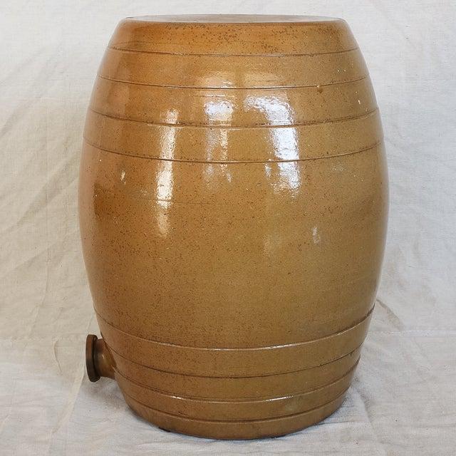 Mid 19th Century 10 Gallon Stoneware Keg Barrel For Sale - Image 4 of 11