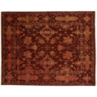 Transitional Area Rug in Auburn With Modern Style - 7′11″ × 10′