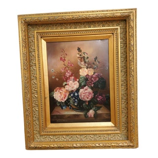 Vintage Mid-Century Andrews Still Life Painting For Sale