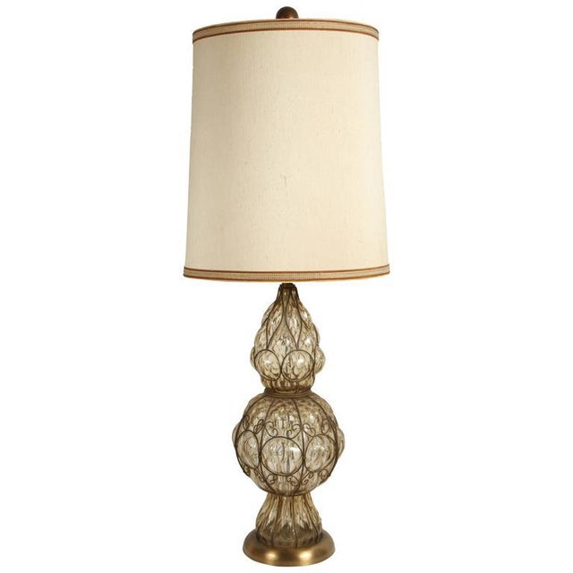 Murano Glass Italian Table Lamp by Marbro For Sale In Los Angeles - Image 6 of 6