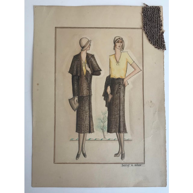 Twelve Fashion Designs by University of Washington Student, 1929 For Sale - Image 9 of 13