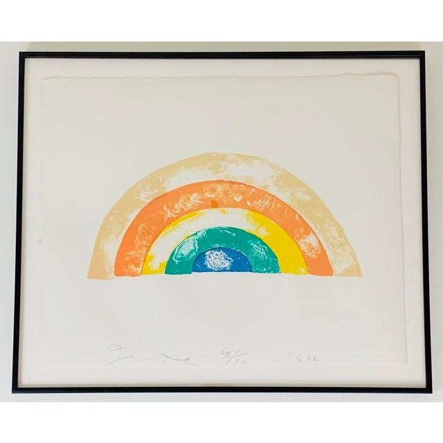 """""""Rainbow"""" Jim Dine Signed Limited Edition Lithograph, 1972 For Sale - Image 13 of 13"""