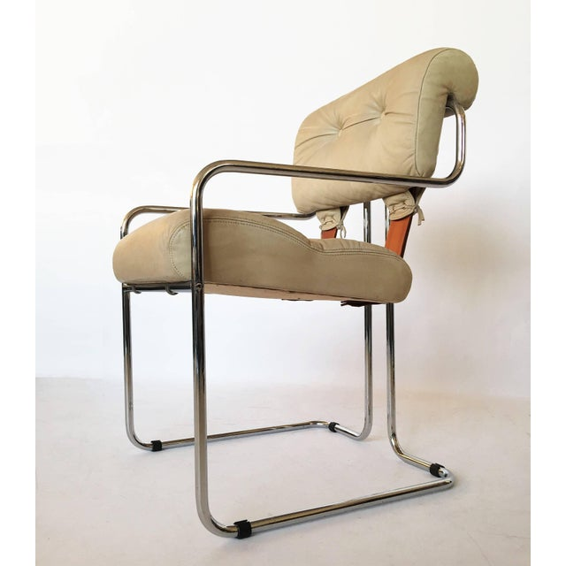 "Guido Faleschini Italian Leather ""Tucroma"" Chair by I4 Mariani for Pace For Sale - Image 9 of 9"