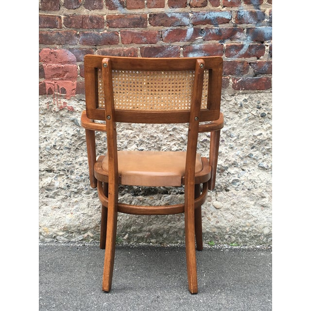 Mid-Century Changebak Cane & Wood Accent Chair - Image 6 of 7