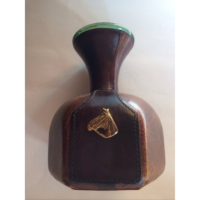 Vintage Italian Leather Wrapper Decanter - Image 3 of 9