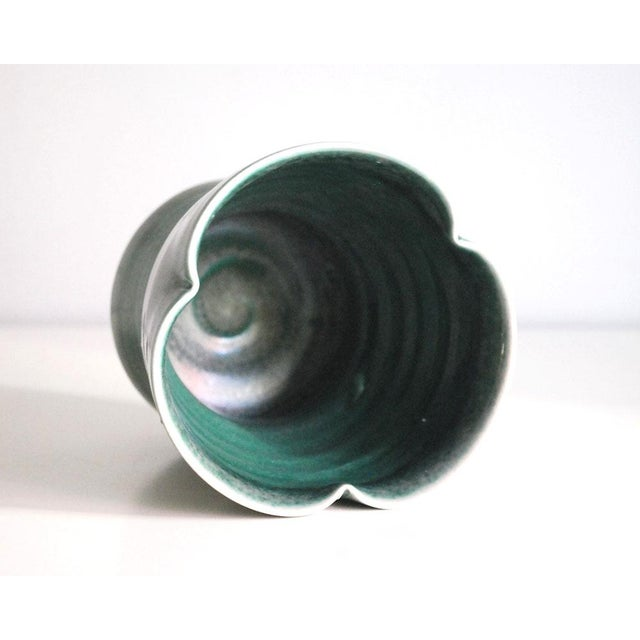 Contemporary 20th Century Modern Green Porcelain Vase For Sale - Image 3 of 7