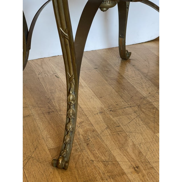 French Antique French Bronze Regency Black Marble Top Table For Sale - Image 3 of 5