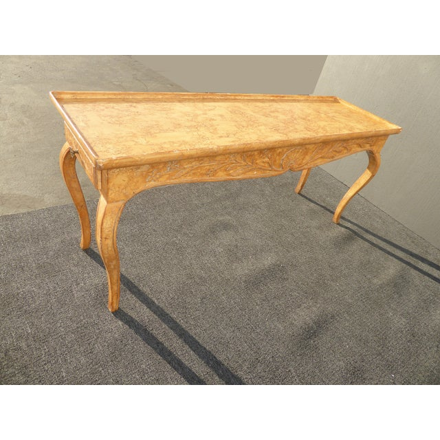 Vintage Rustic French Country Console Table For Sale In Los Angeles - Image 6 of 11