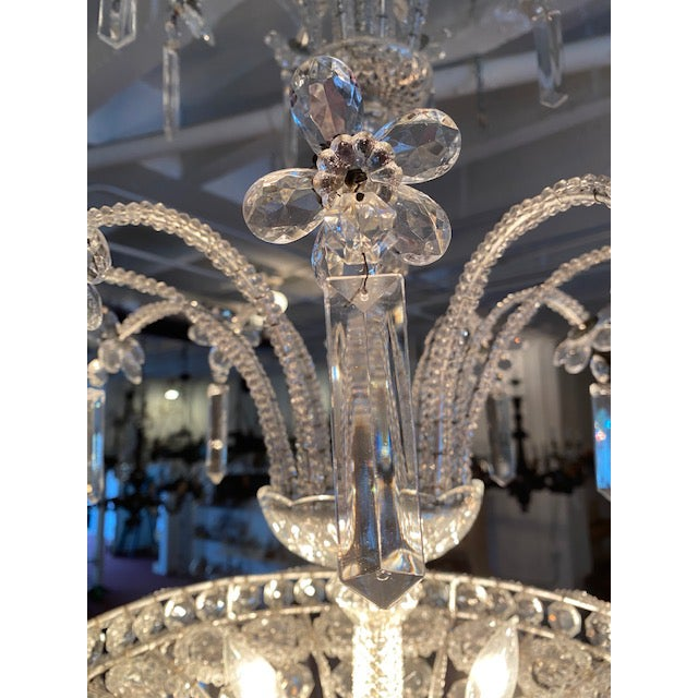 Mid 20th Century Silver Italian Chandelier For Sale - Image 5 of 7