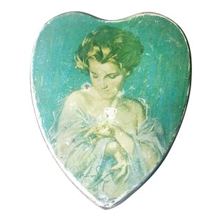 Vintage Tindeco Female Portrait Tin Box