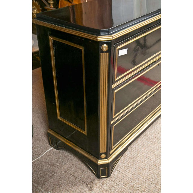 Neoclassical Russian Neoclassical Style Ebonized Commode / Chest of Drawers / Cabinet 19th C. For Sale - Image 3 of 8