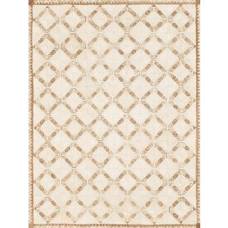 Schumacher Patterson Flynn Martin Amare Hand-Woven Abaca Geometric Rug - 9' X 12' For Sale