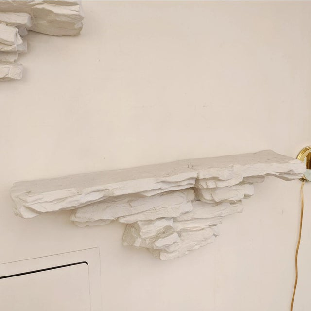 Vintage Stone Form Wall Mounted Shelves - a Pair For Sale - Image 4 of 5