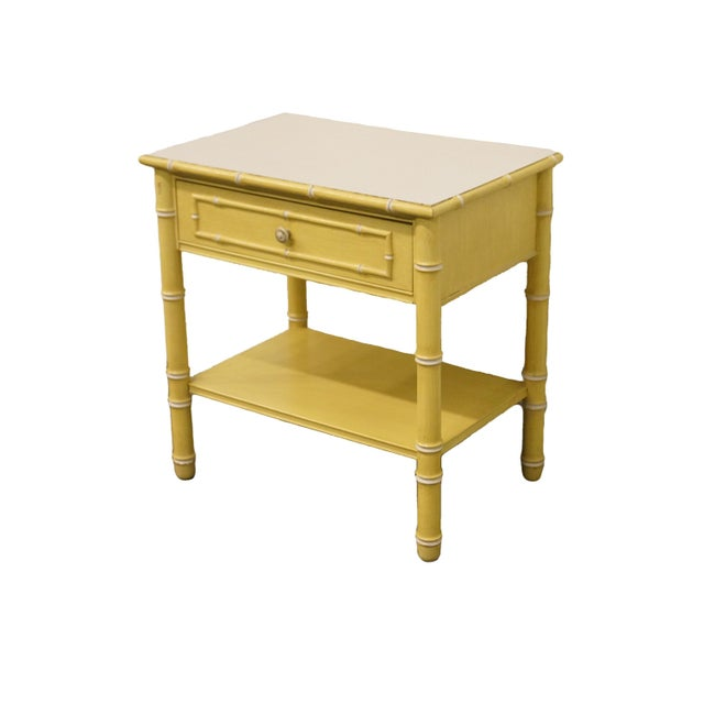 Thomasville Furniture Allegro Collection Asian Faux Bamboo Nightstand 625-12. We specialize in high end used furniture...