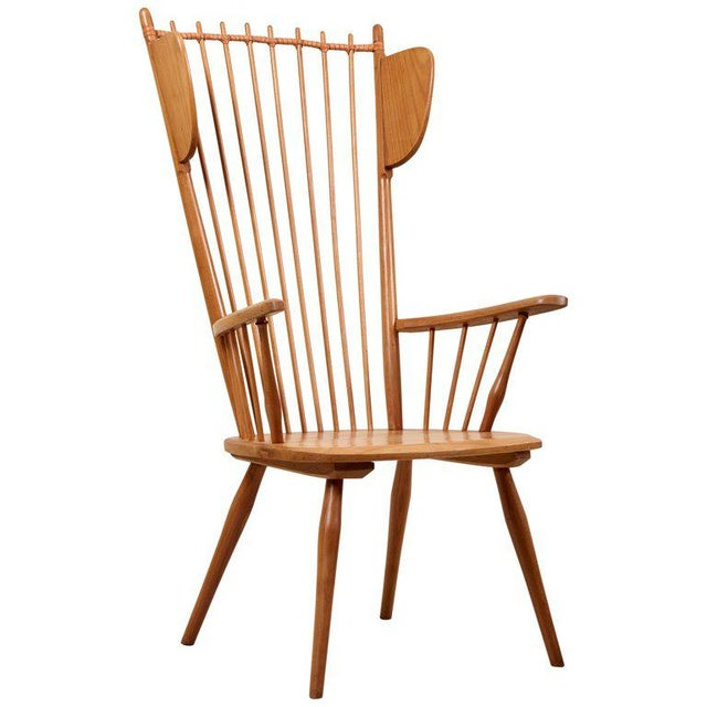 Albert Haberer Wingback Armchair in Solid Wood, Germany, 1950 For Sale - Image 13 of 13