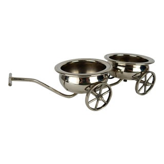 Silver Plate Wine Wagon For Sale