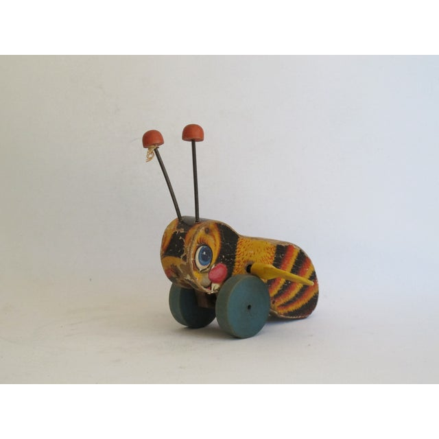 """Antique """"Buzzy Bee"""" Pull Toy For Sale - Image 4 of 6"""