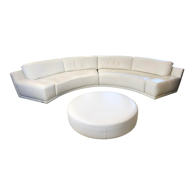 Solstice Curved Sectional + Ottoman From Roche Bobois For Sale