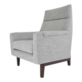 Edward Wormley for Dunbar Lounge Chair in New Upholstery For Sale