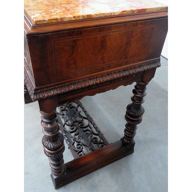 Regency Style Marble Top Sideboard For Sale - Image 10 of 12
