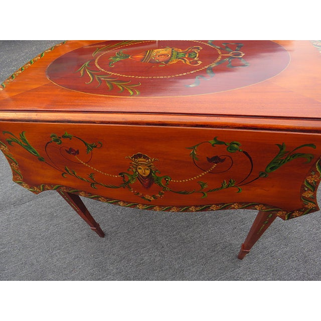 Green Adam's Style Pembroke Table For Sale - Image 8 of 11