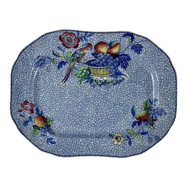 1920s Copeland Spode George III Pattern Platter for Harrods of London For Sale