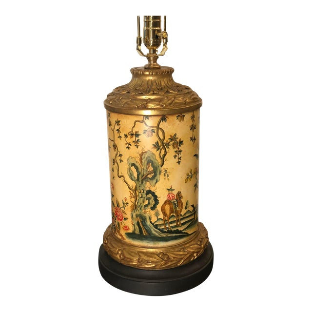 William Switzer Chinoiserie Decorated Designer Table Lamp by Charles Pollock For Sale